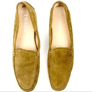 PRADA Women's Suede Leather Driving Loafers - 10